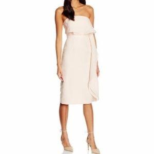Keepsake Small Talk Ruffle Strapless Sheath Dress